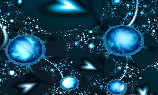Обои Абстрактный голубой узор