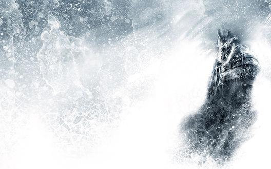 Обои Воин в доспехах в снегу