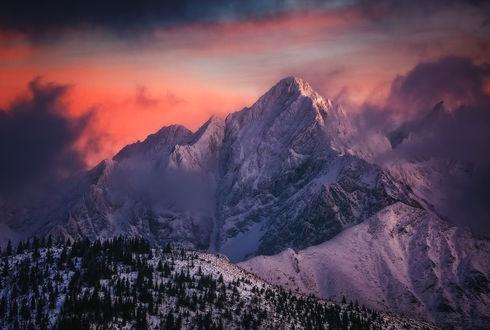 Обои Горы покрытые снегом под облаками, фотограф Pawel Uchorczak
