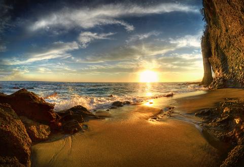 Обои Морское побережье на закате, фотограф William McIntosh