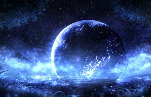 Обои Планета в оде, by CZY