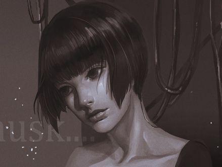 Обои Девушка с короткой стрижкой, by DEX GOOOD