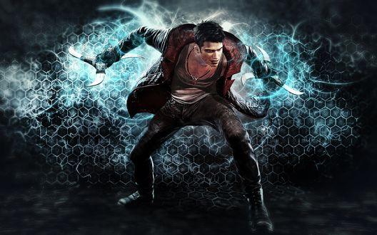 Обои Данте главный герой серии Devil May Cry, сын демона Спарды и земной женщины Евы