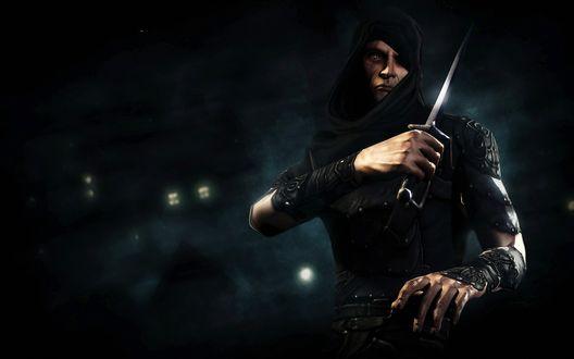 Обои Вор Гарретт с компьютерной игры Thief 3: Тень смерти / Thief: Deadly Shadows