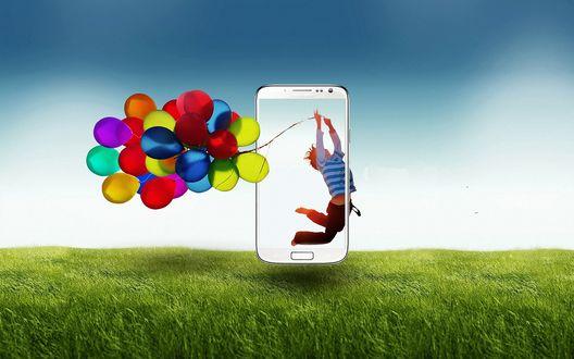 Обои Реклама смартфона Samsung-Galaxy-S4