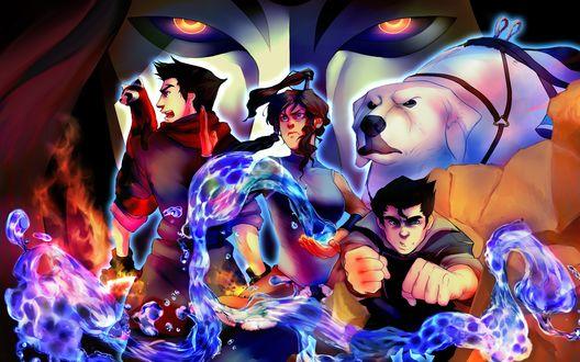 Обои Персонажи американского анимационного телесериала Аватар: Легенда о Корре / The Legend of Korra