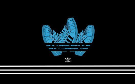 Обои Креативный логотип фирмы adidas