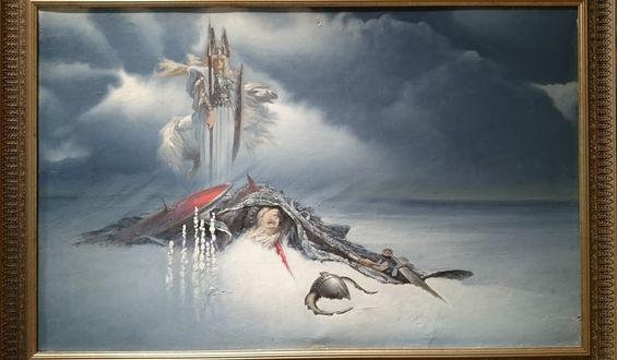 Обои Валькирия над поверженным воином, by Константин Васильев