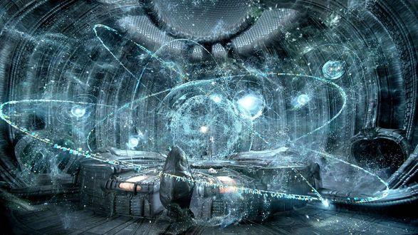 Обои Алхимические мага опыты в комнате