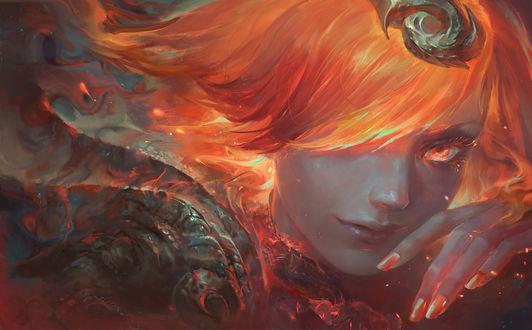 Обои Lux / Люкс из игры League of Legends / Лиги Легенд, by su-ke