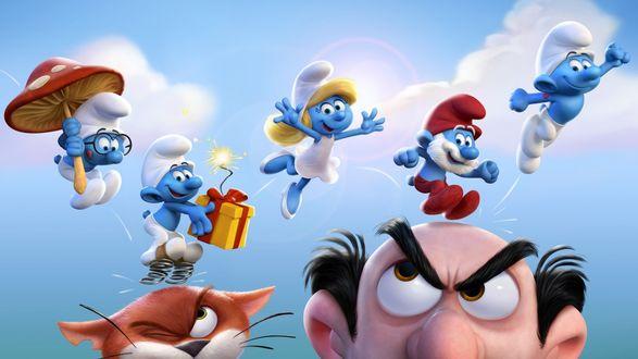 Обои Smurf / Смурфики - герои мультфильма Смурфики 3
