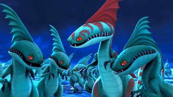 Обои Драконы из мультфильма Как приручить дракона