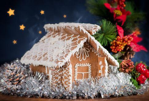 Обои Пряничный новогодний домик, by justerZ
