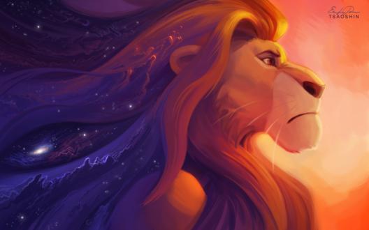 Обои Муфаса из мультфильма Король лев / The lion king, by TsaoShin