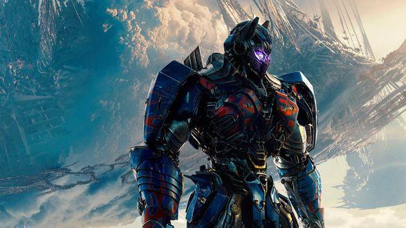 Обои Оптимус Прайм / Optimus Prime камондир автоботов фрагмент из фильма Трансформеры / Transformers