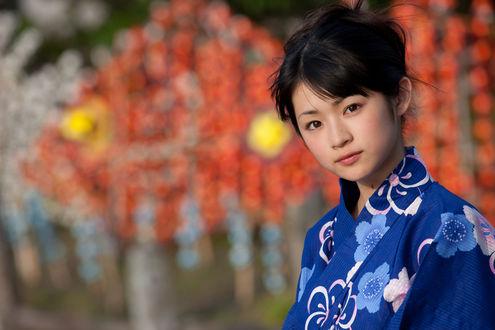 Обои Японская певица Маэда Юука / Maeda Yuuka, бывшая участница группы S / mileage (Angerme) в кимоно