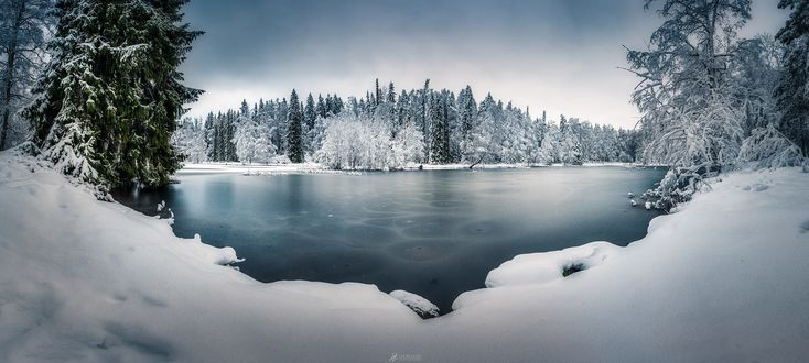 Обои Зимний пейзаж, Southern Finland / Южная Финляндия, фотограф Lauri Lohi