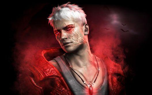 Обои Dante / Данте из игры DmC: Devil May Cry / Дьявол может плакать