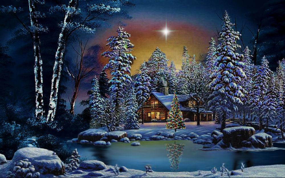 Про любовь, зимние открытки с рождеством