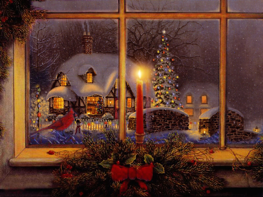 Картинки, картинка новогоднее окно