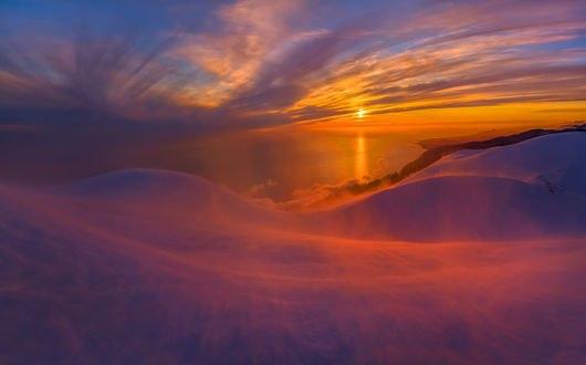 Обои В горах Абхазии, внизу Черное море, фотограф Лашков Федор