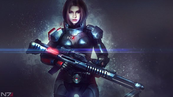 Обои Александра Шепард / Alexandra Shepard из игры Масс Эффект / Mass Effect, by Eddy Shinjuku