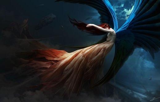 Обои Девушка - ангел на фоне природы, by zacky7avenged