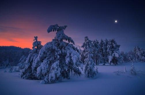 Обои Южный Урал, Синие скалы зимой, фотограф Владимир Ляпин