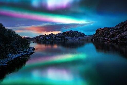 Обои Красочное небо и его отражение в озере, фотограф Adnan Bubalo