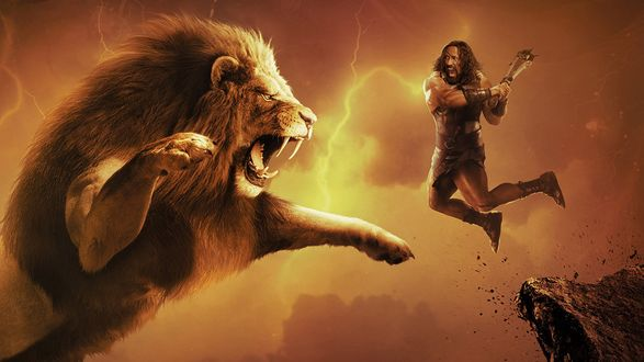 Обои Геракл сражается с Немейским львом, фильмHercules / Геракл
