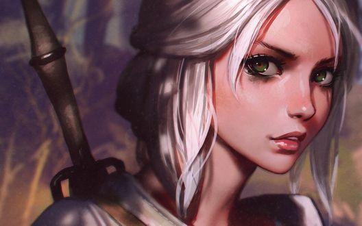 Обои Цирилла Фиона Элен Рианнон / Cirilla Fiona Elen Riannon/ , она же Цири / Ciri/ — персонаж игры Ведьмак / Witcher