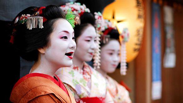 Обои Японские гейши из Киото / Kyoto