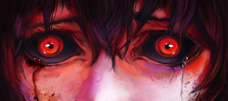 Обои Плачущая Хинами Фуэгучи / Hinami Fueguchi из аниме Токийский монстр / Tokyo Ghoul, by EduardoGaray