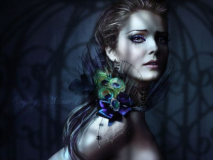 Обои Девушка с украшением на плече, by CryingSilence