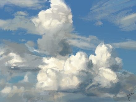 Обои Белые облака на небе, by thomasbignon