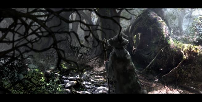 Обои Девушка - маг в лесу, автор 桃栗ごはん