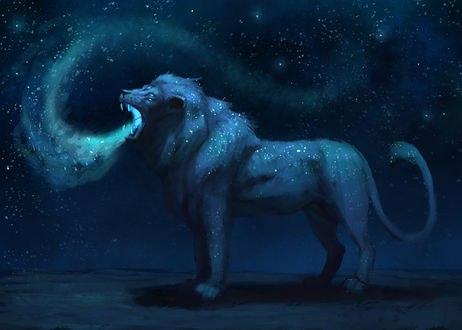 Обои Космический лев, by JadeMere