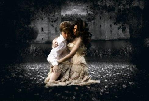 Обои Парень и девушка в образах Ромео и Джульетты, фотограф Серега