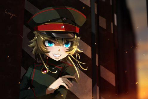 Обои Tanya Degurechaff из аниме Военные хроники Маленькой девочки / Youjo Senki