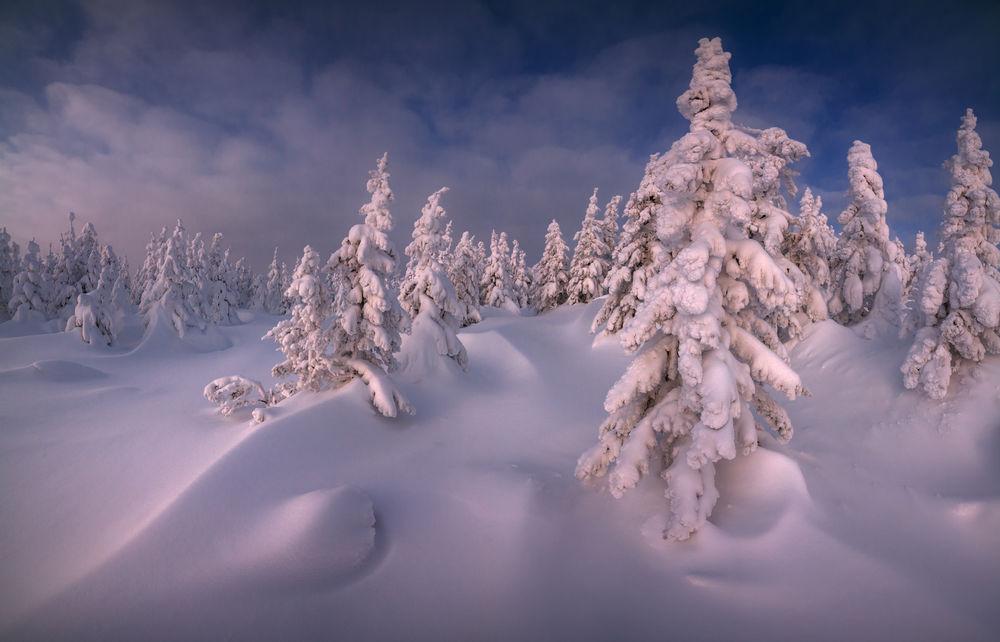 Обои для рабочего стола Работа Кудесница зима, Южный Урал, хребет Зюраткуль, фотограф marateaman