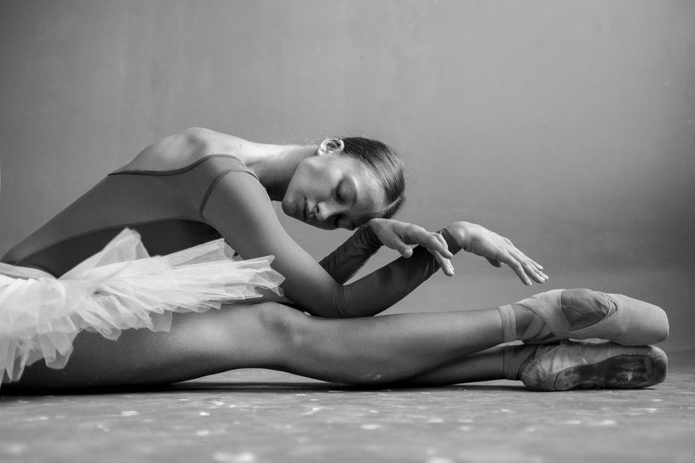 балерина сидит фото когда