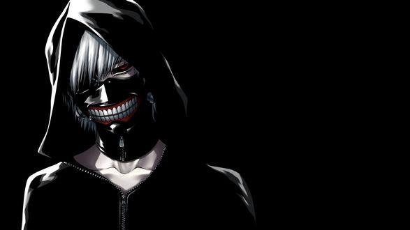 Обои Кэн Канэки / Ken Kaneki из аниме Токийский монстр / Tokyo Ghoul