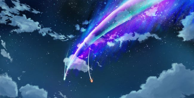 Обои Падающие звезды из аниме Твое имя / Kimi no Na wa / Your Name