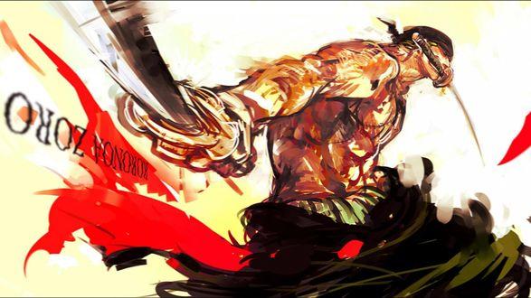 Обои Ророноа Зоро / Roronoa Zoro из аниме Ван Пис / One Piece