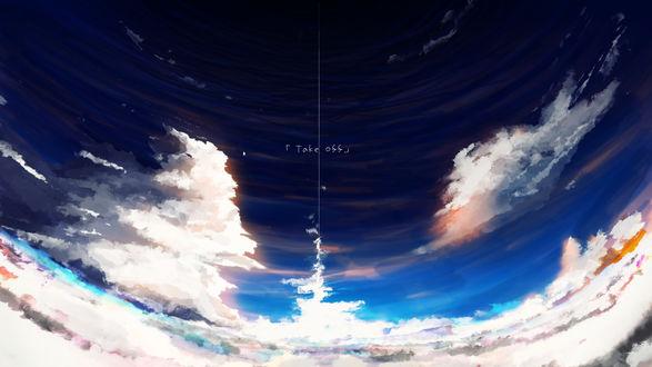 Обои Облачное небо, by Y_Y (Take off)