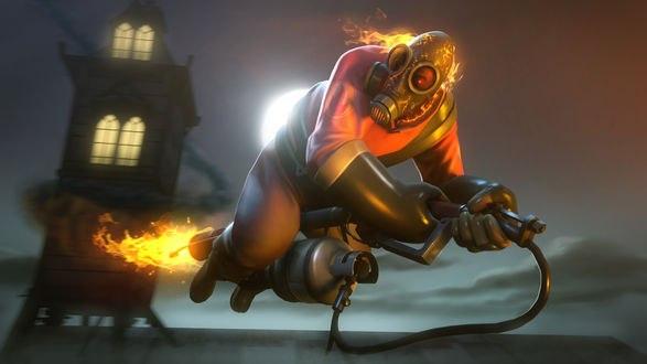 Обои Pyro из игры Team Fortress 2