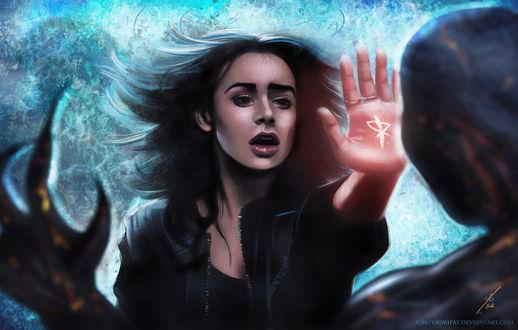 Обои Clary Fray / Клэри Фрэй из фильма The Mortal Instruments: City of Bones / Орудия смерти: Город костей, by Mutsumipat