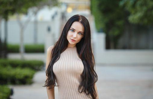 Обои Украинская модель Ангелина Петрова на улице