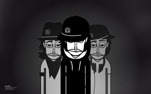 Обои Три парня на черно-белом фоне