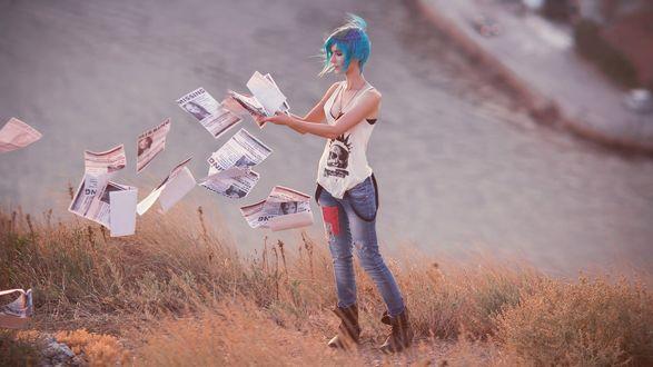 Обои Косплей Chloe Price / Хлоя Прайс из игры Life is Strange / Жизнь – странная штука, by LanaTemirova